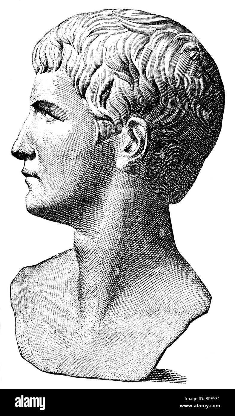 The Roman emperor Caius Caesar Germanicus is better known by his nickname Caligula (translates 'little boots'). - Stock Image