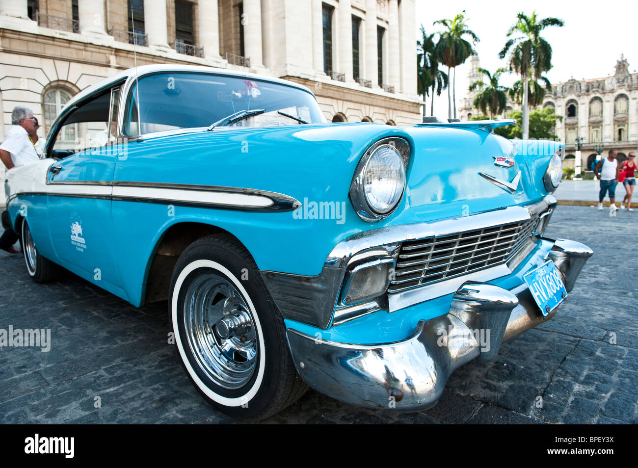 Blue 50's Chevy - Stock Image