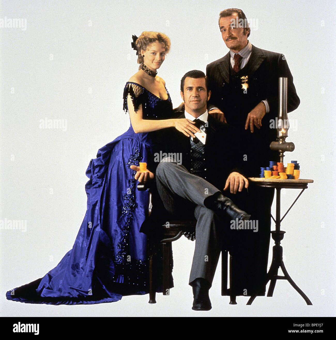 Jodie Foster Mel Gibson James Garner Maverick 1994 Stock Photo Alamy