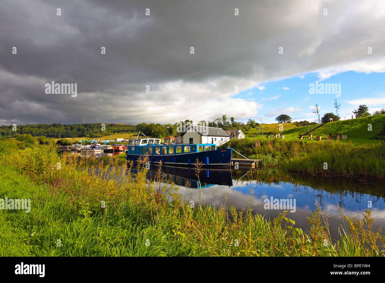 Forth and Clyde canal in the afternoon - Stock Image