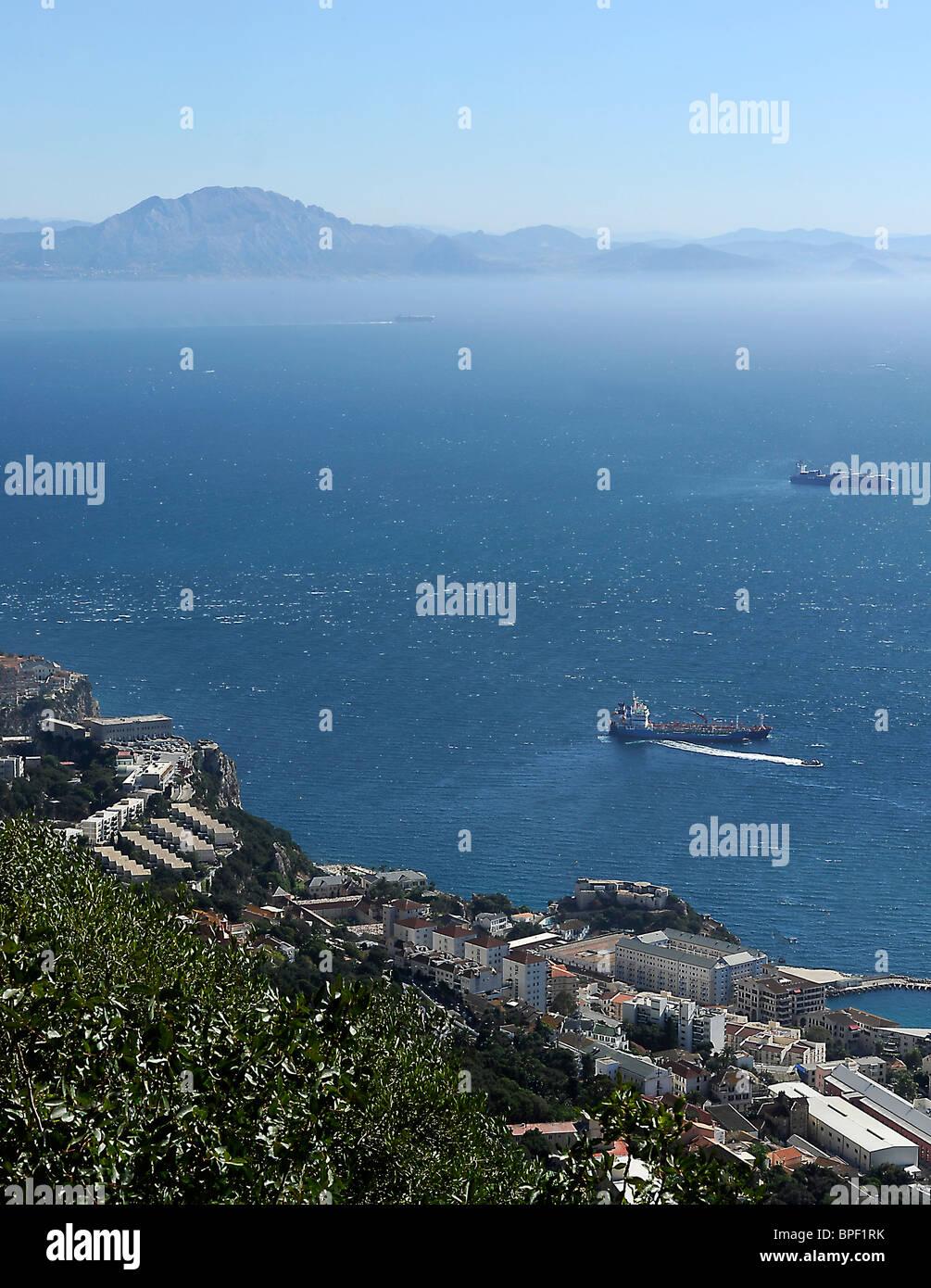 Strait of Gibraltar Strasse von Gibraltar - Stock Image