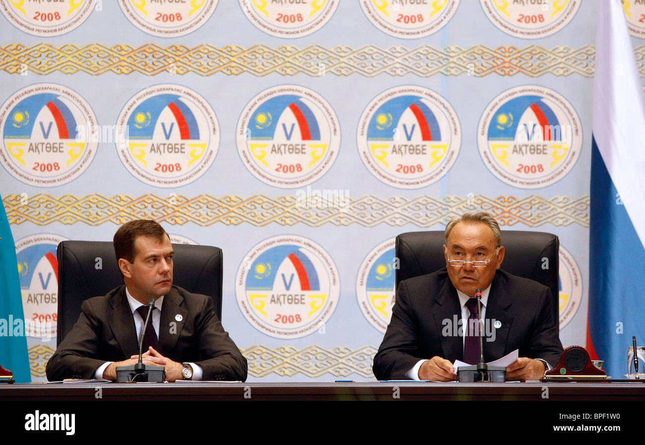 Russian president on visit to Kazakhstan - Stock Image