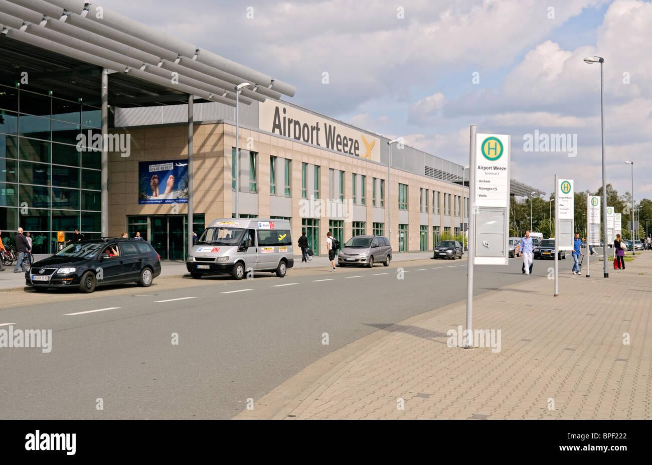 Terminal building at Weeze (Niederrhein) Airport, North Rhine-Westphalia, Germany. - Stock Image