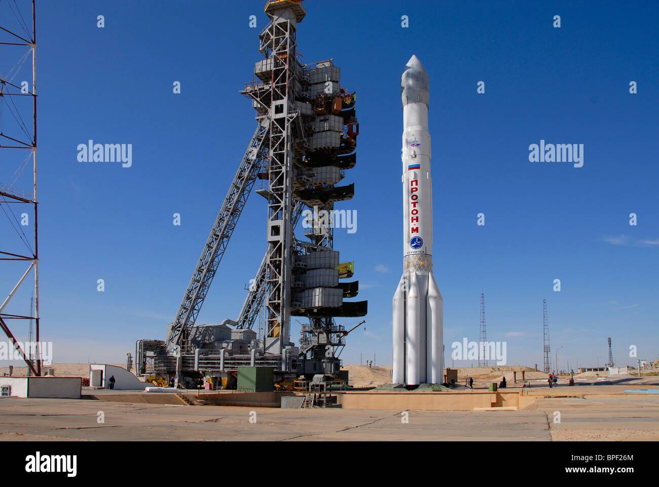 Russia launches three GLONASS satellites into orbit - Stock Image