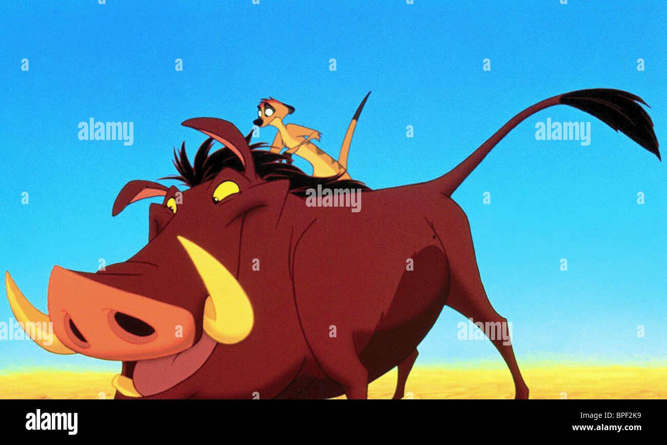 Pumbaa Timon The Lion King 1994 Stock Photo Alamy