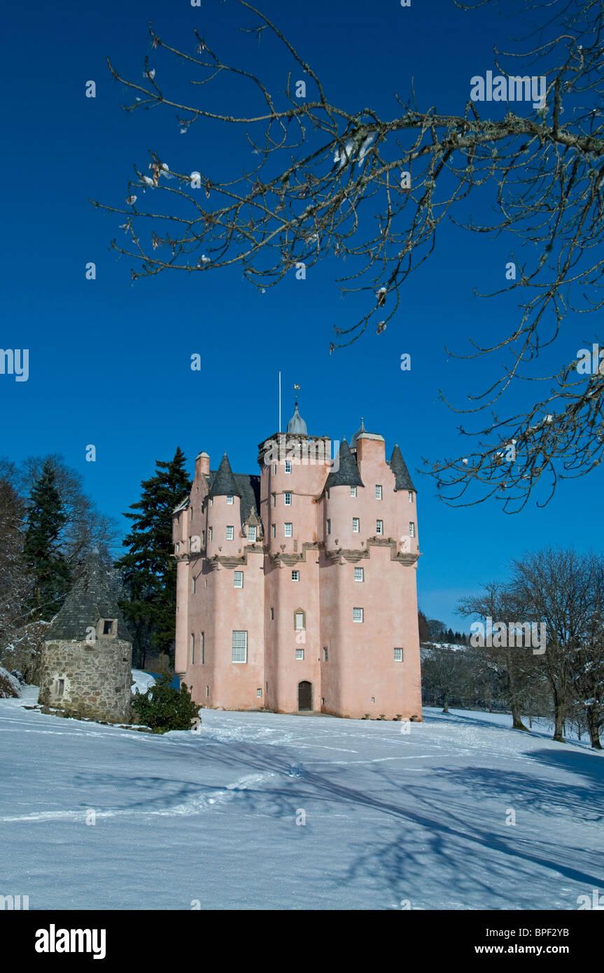 Winter snow at Craigevar Castle near Alford, Aberdeenshire, Grampian Region. Scotland.  SCO 6412 - Stock Image