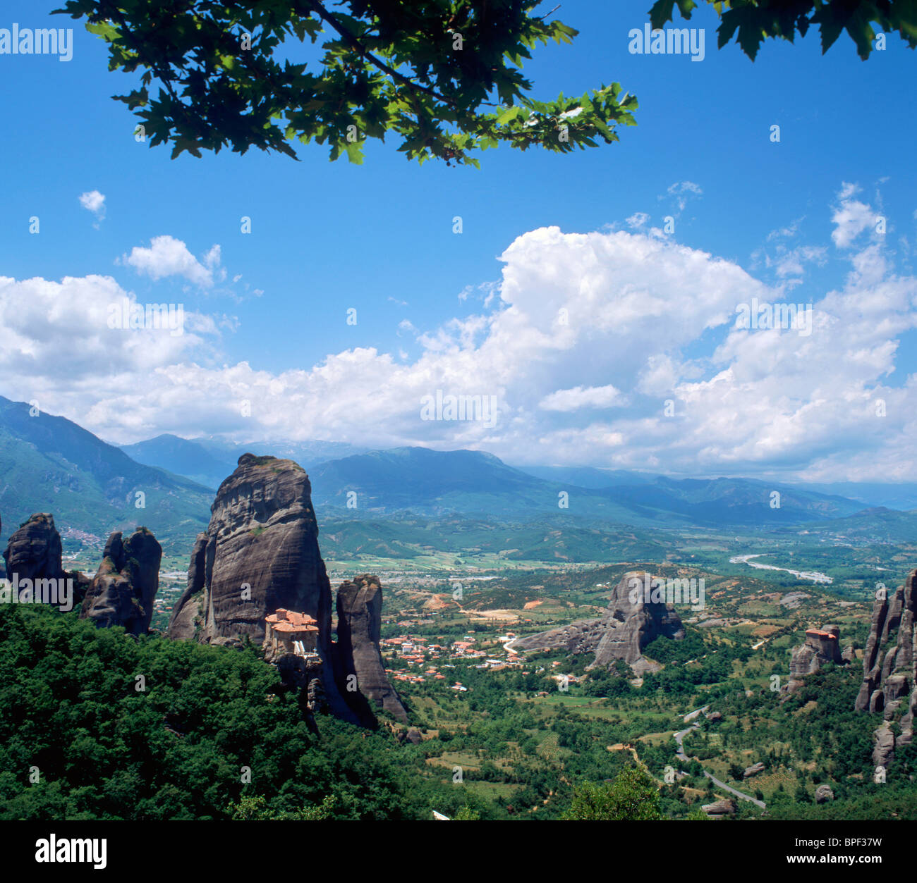 Monasteries of Meteora (Location for James Bond For Your Eyes Only), Thessalia, Greek Mainland, Greece - Stock Image