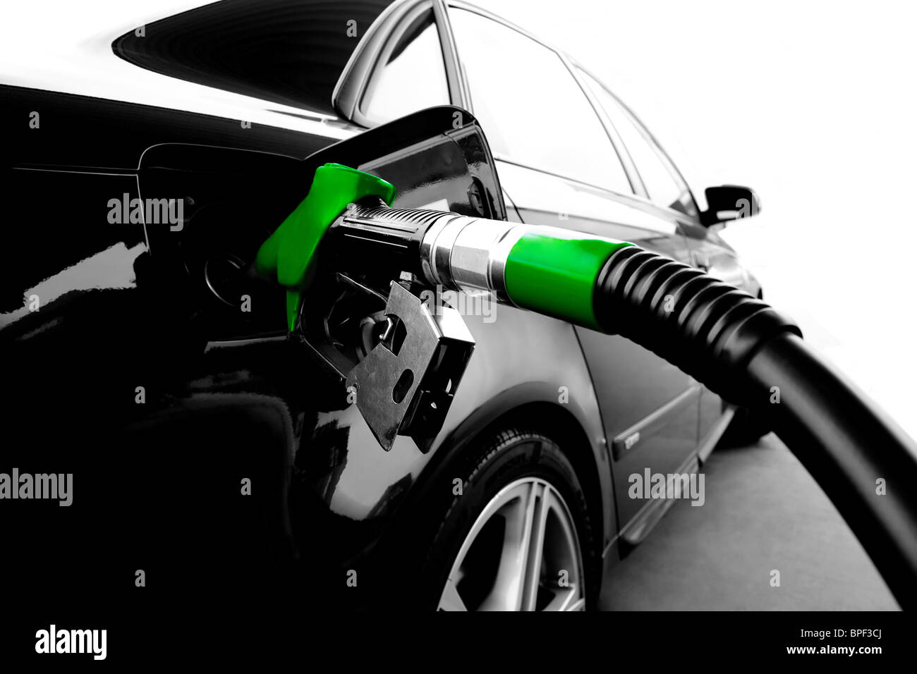 Green Gasoline - Stock Image