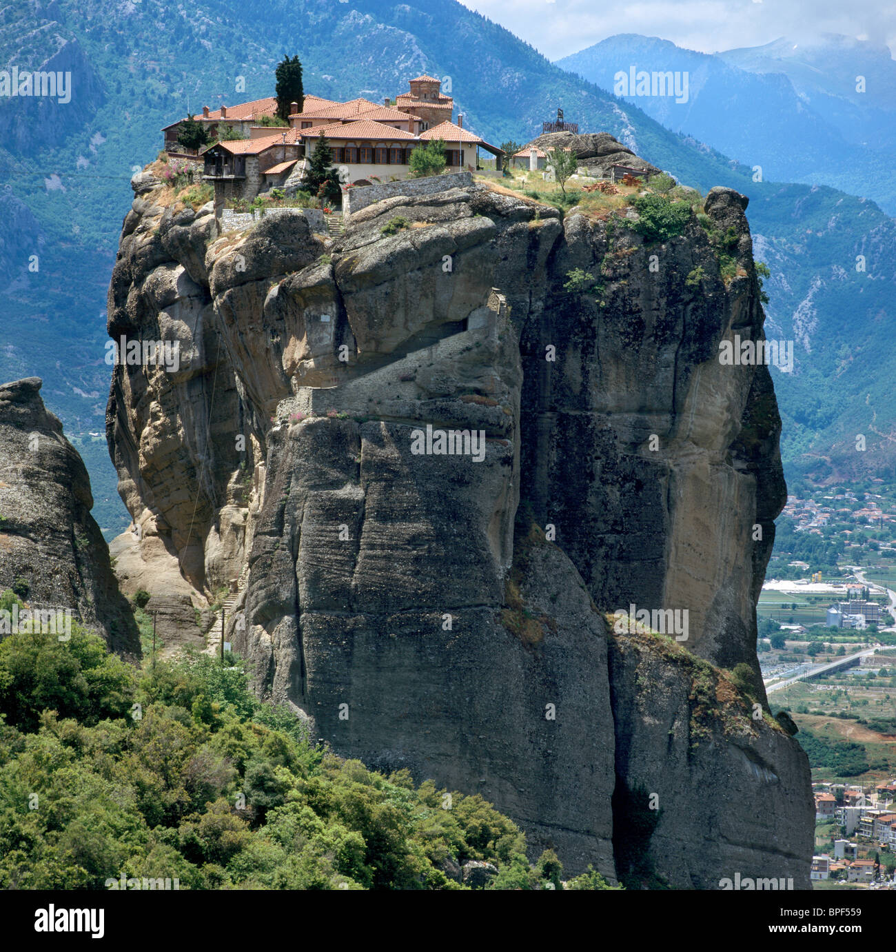 Agia Triada Monastery, Monasteries of Meteora, Thessalia, Greek Mainland, Greece - Stock Image