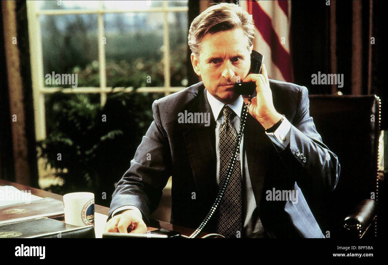 MICHAEL DOUGLAS THE AMERICAN PRESIDENT (1995) - Stock Image