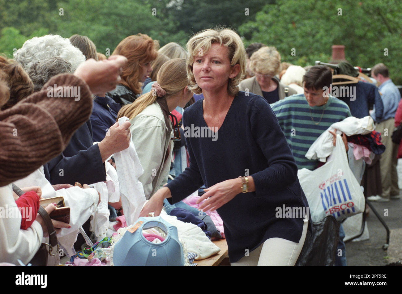 Lady Bradford formerly Joanne Elizabeth Miller at a car boot sale at Weston Park, Shropshire in 1996. - Stock Image