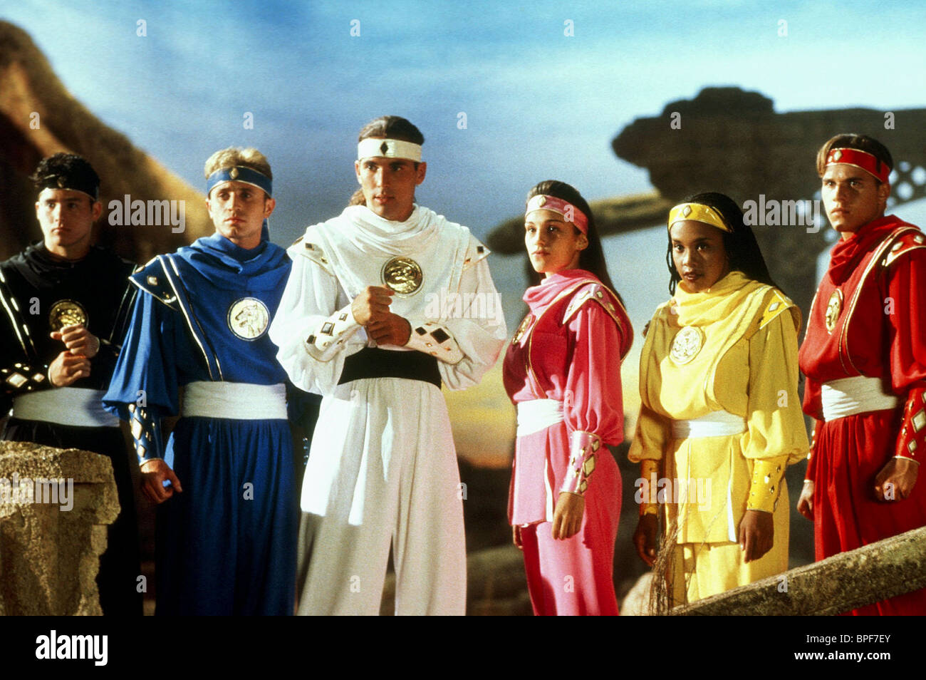 JOHNNY YONG BOSCH, DAVID YOST, JASON DAVID FRANK, AMY JO JOHNSON, KARAN ASHLEY, STEVE CARDENAS, MIGHTY MORPHIN POWER - Stock Image