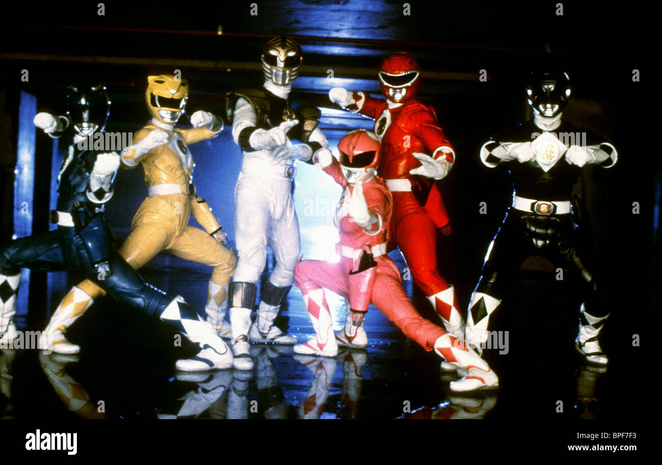 DAVID YOST, KARAN ASHLEY, JASON DAVID FRANK, AMY JO JOHNSON, STEVE CARDENAS, JOHNNY YONG BOSCH, MIGHTY MORPHIN POWER - Stock Image