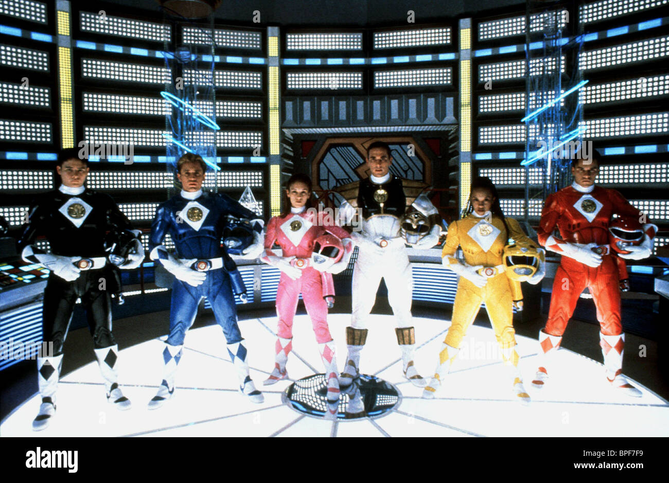 JOHNNY YONG BOSCH, DAVID YOST, AMY JO JOHNSON, JASON DAVID FRANK, KARAN ASHLEY, STEVE CARDENAS, MIGHTY MORPHIN POWER - Stock Image