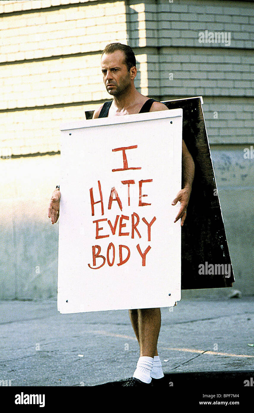 Bruce Willis As John Mcclane Film Title Die Hard 3 Stock Photos ...