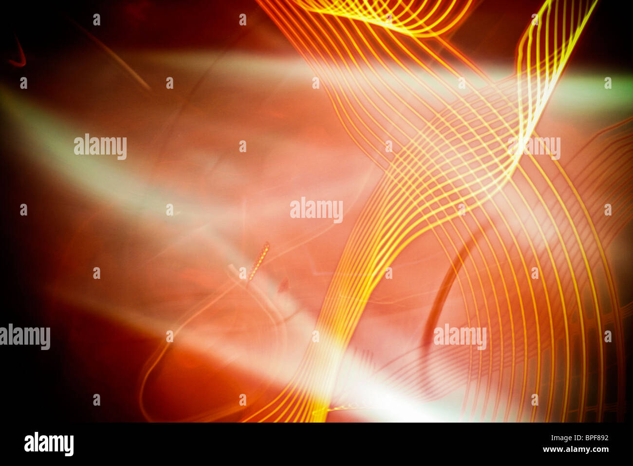 Abstract light shapes in the dark - Stock Image