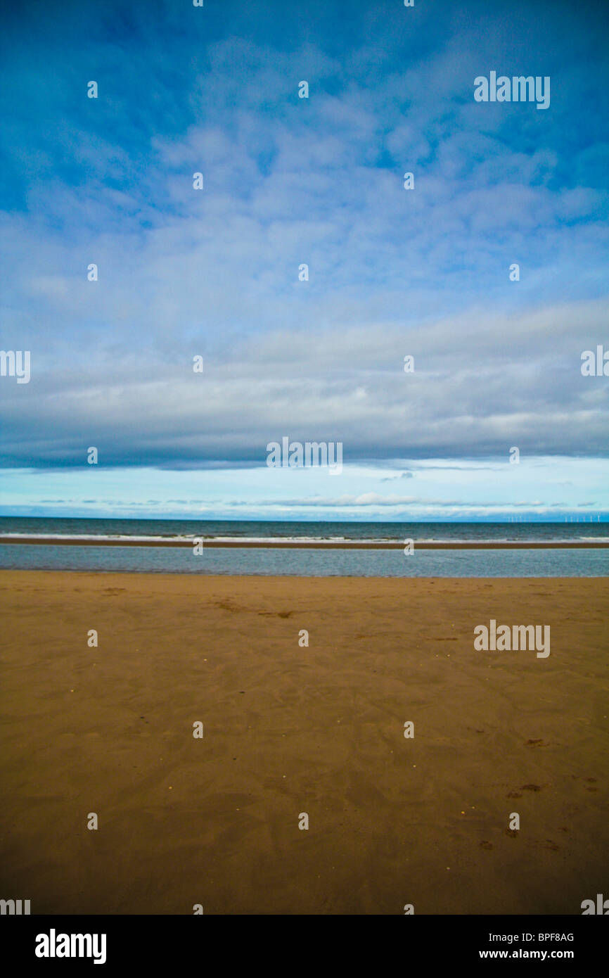 An empty cold beach, abstract - Stock Image