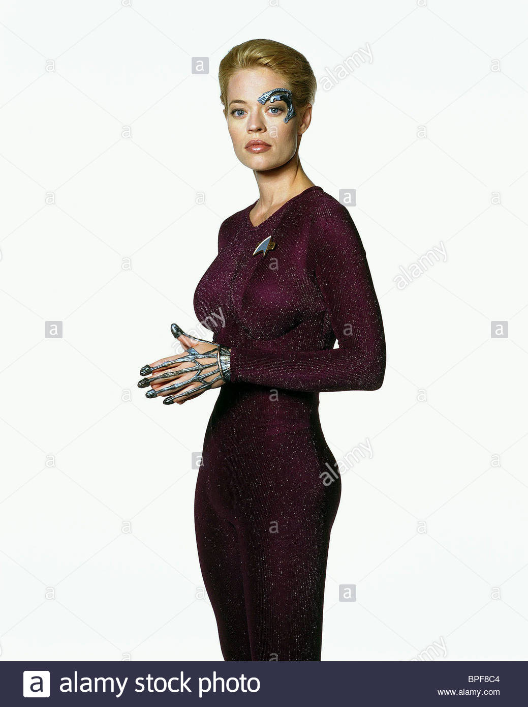 Jeri Ryan Seven Of Nine Star Trek Voyager 1995 Stock Photo Alamy