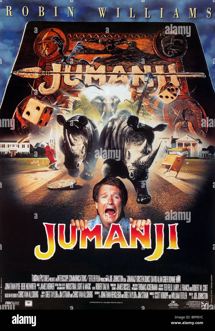 FILM POSTER JUMANJI (1995) - Stock Image