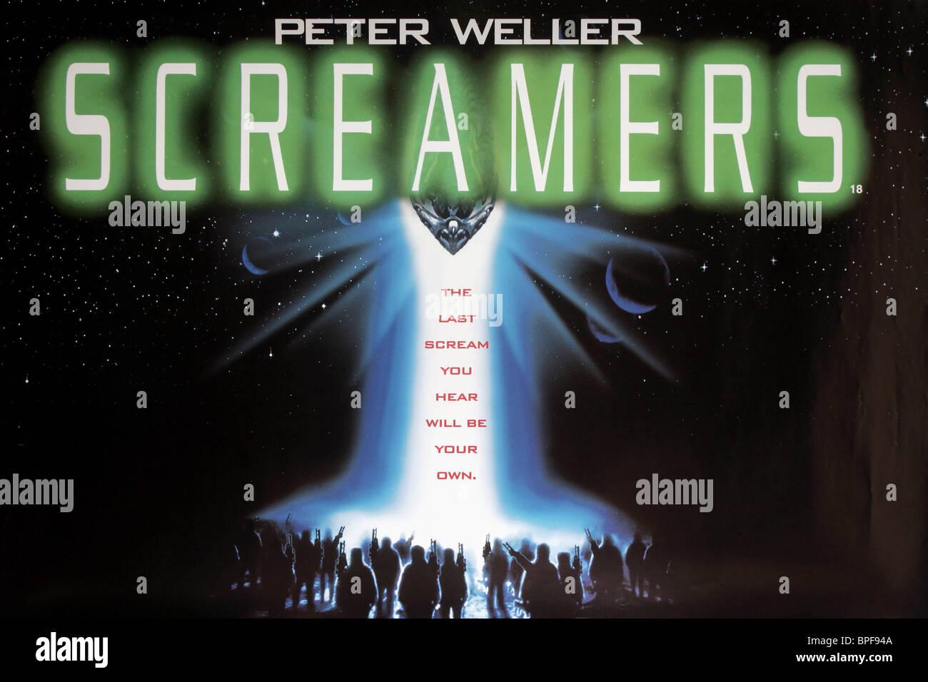 FILM POSTER SCREAMERS (1995) - Stock Image