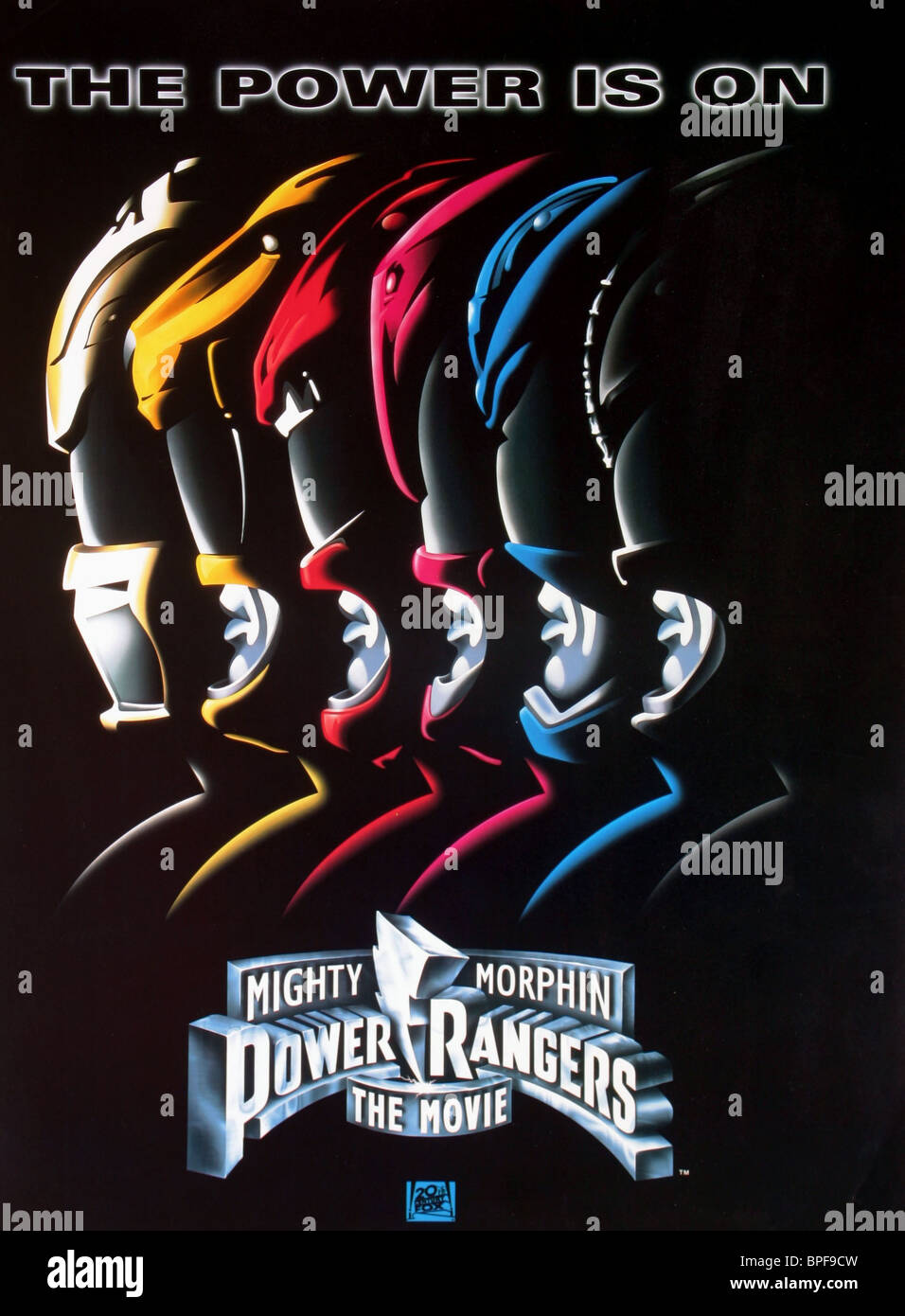 FILM POSTER MIGHTY MORPHIN POWER RANGERS: THE MOVIE (1995) Stock Photo
