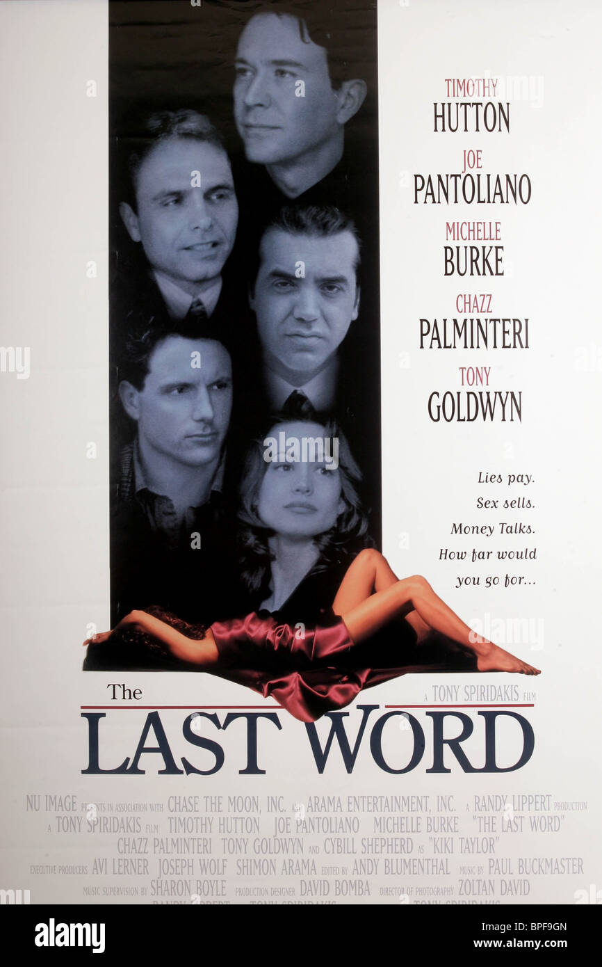 FILM POSTER THE LAST WORD (1995) - Stock Image