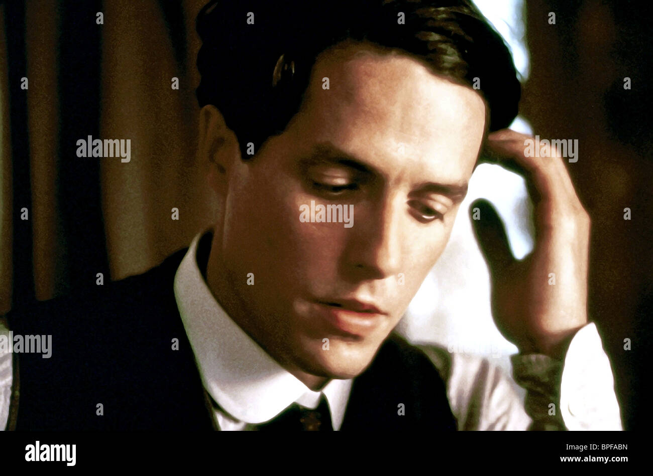 HUGH GRANT THE ENGLISHMAN WHO WENT UP A HILL BUT CAME DOWN A MOUNTAIN (1995) - Stock Image
