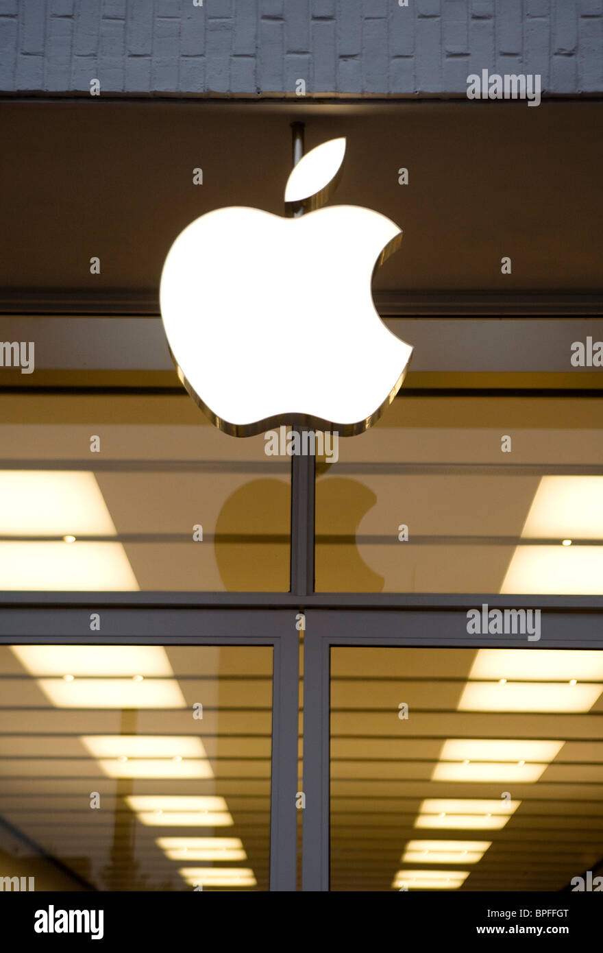 A Apple retail store in Washington, DC. Stock Photo