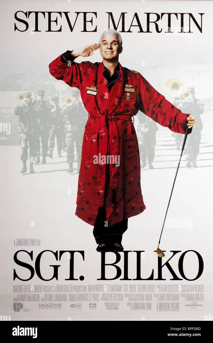 STEVE MARTIN POSTER SGT. BILKO (1996) - Stock Image