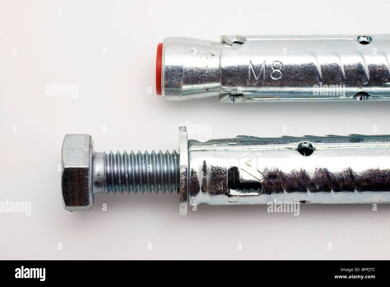 composition of screw and dowel - Stock Image