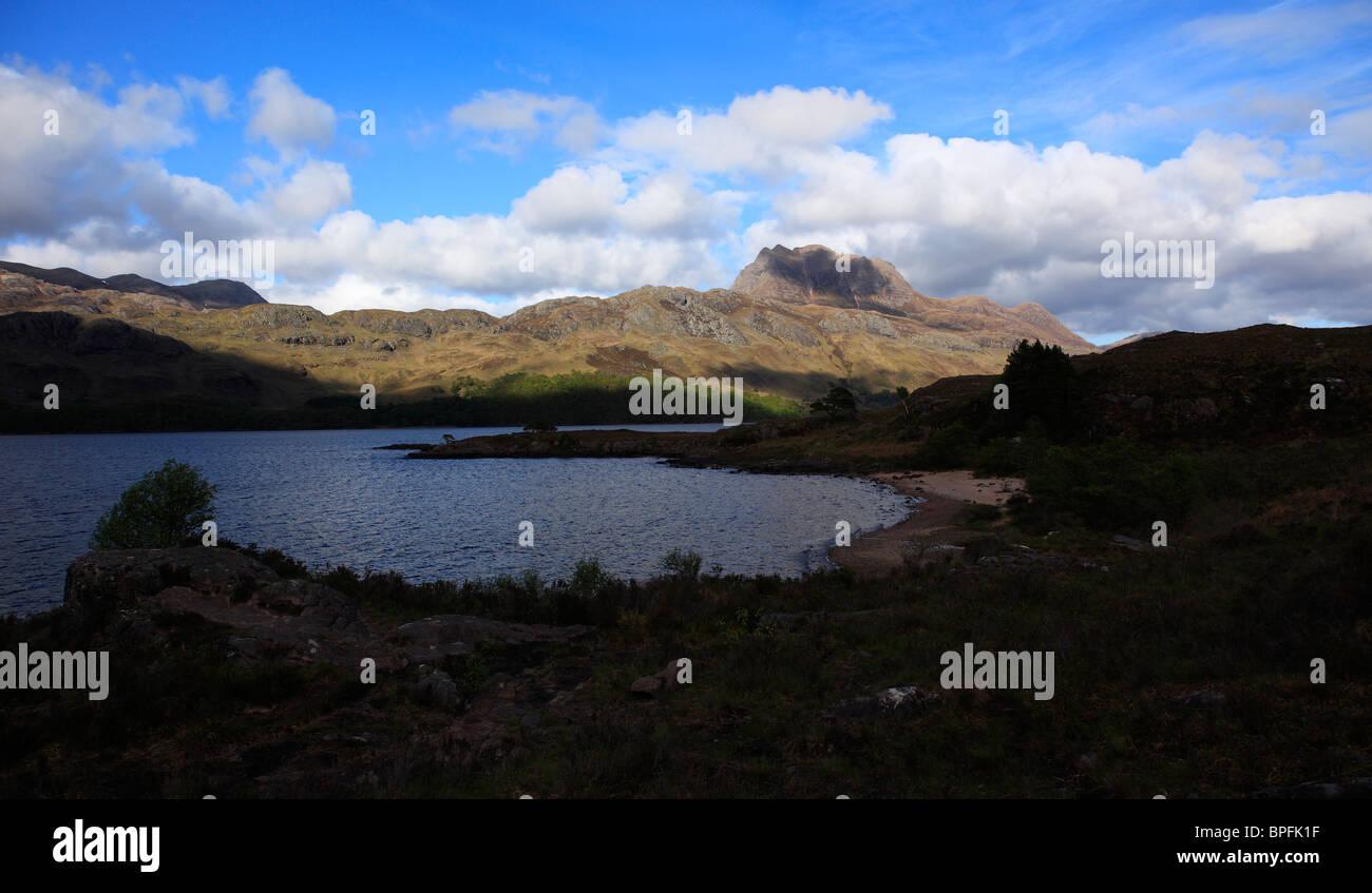 Slioch mountain Loch Maree Letterewe Wester Ross Scotland UK Stock Photo