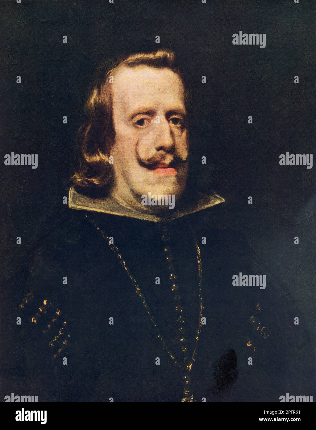 Philip IV. Painting by Diego de Silva y Velazquez. King Philip IV of Spain 1605 - 1665. - Stock Image