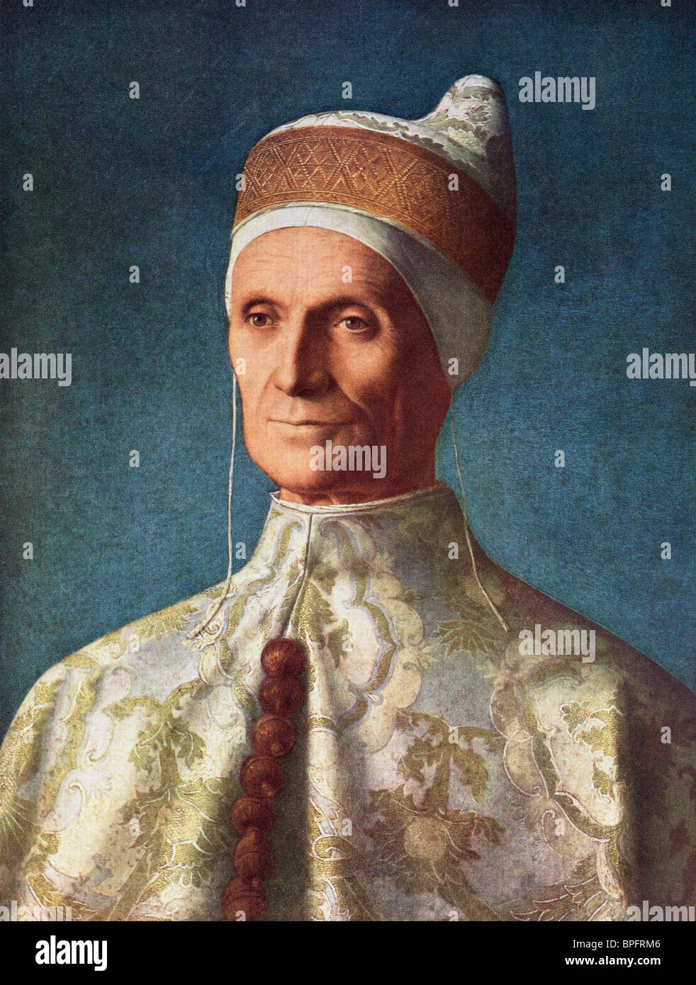 Leonardo Loredano, Doge of the Republic of Venice, 1436 - 1521 by Giovanni Bellini. - Stock Image