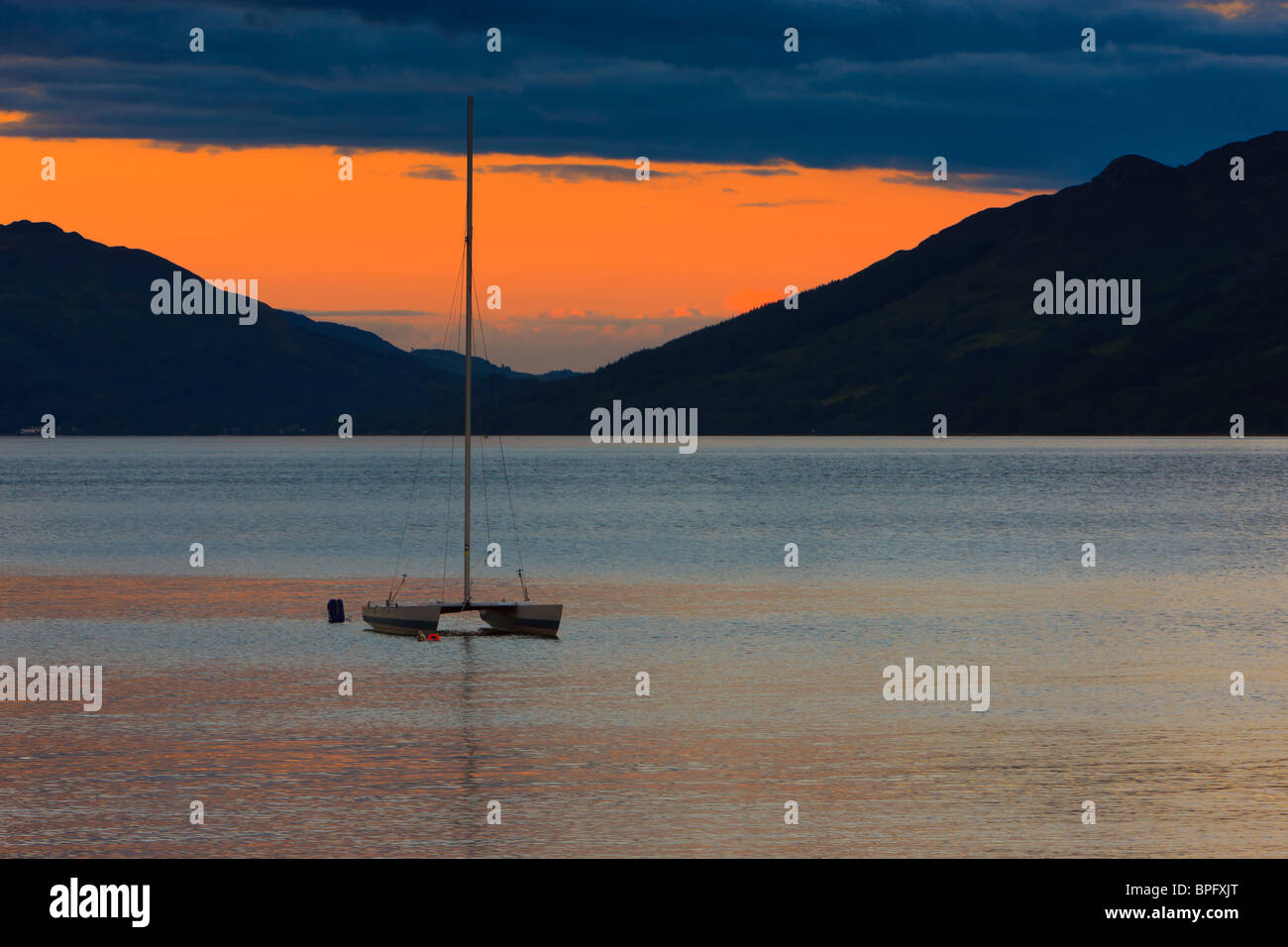 Sunset at Loch Earn - Stock Image