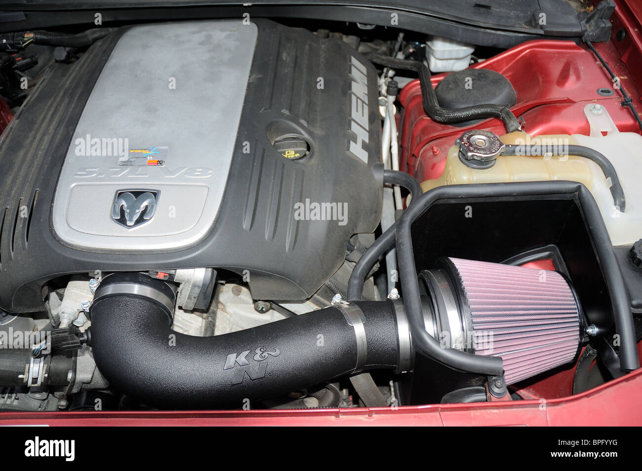 Air Intake Stock Photos Images Alamy Land Rover Cold Installed On A Dodge Charger Hemi V 8 Engine
