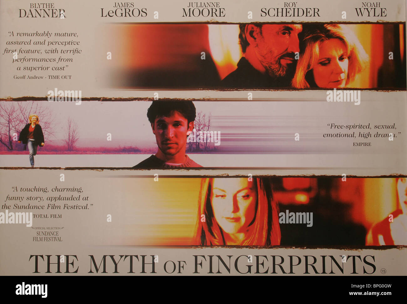 FILM POSTER THE MYTH OF FINGERPRINTS (1997) - Stock Image