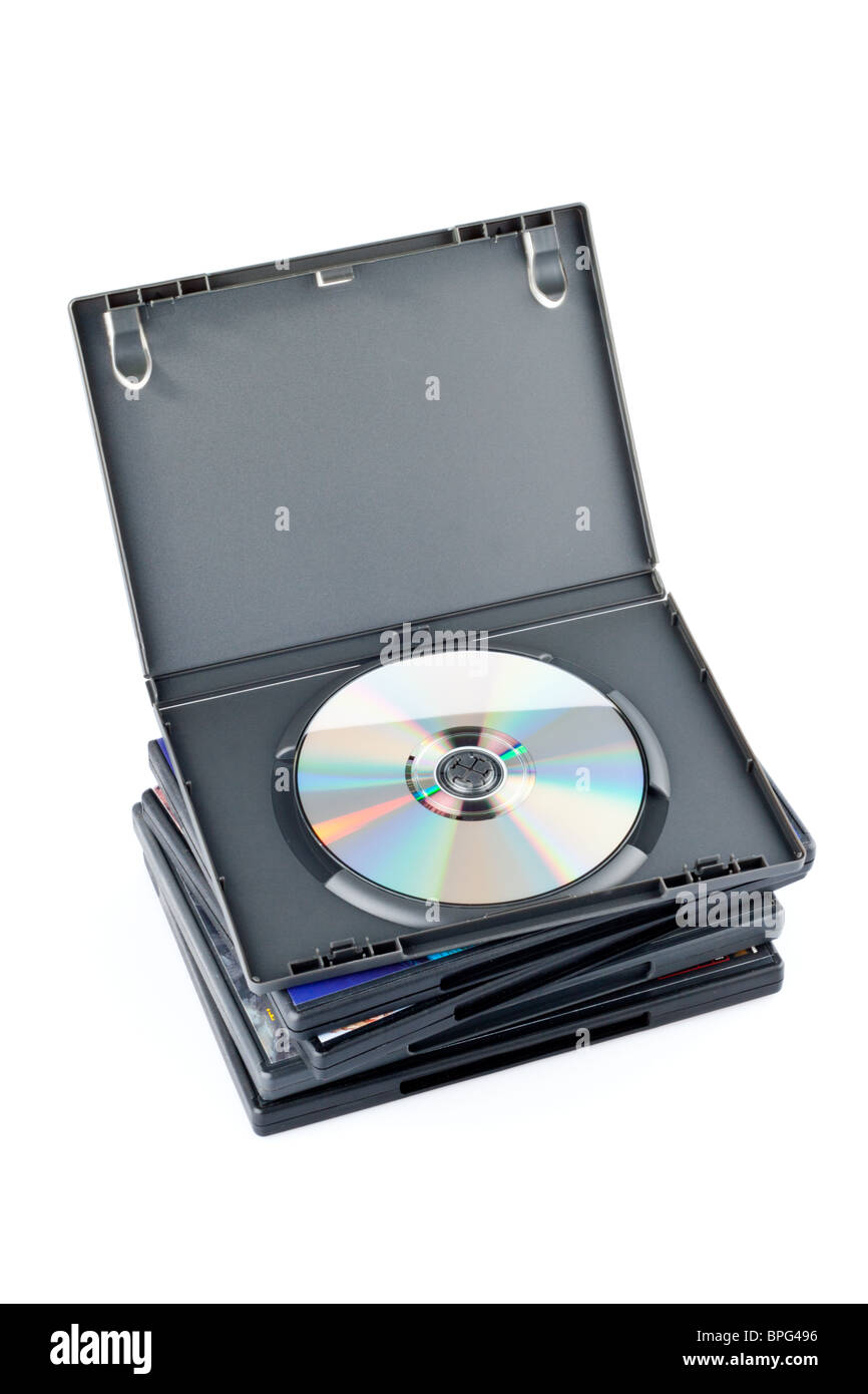 Pile of CD Cases - Stock Image