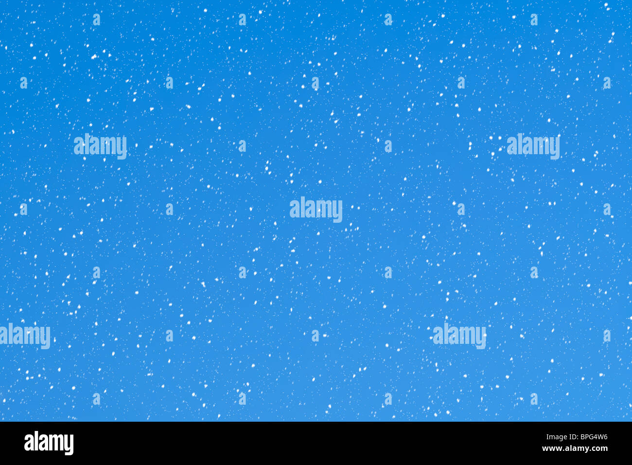Snowflakes on a light blue background - Stock Image