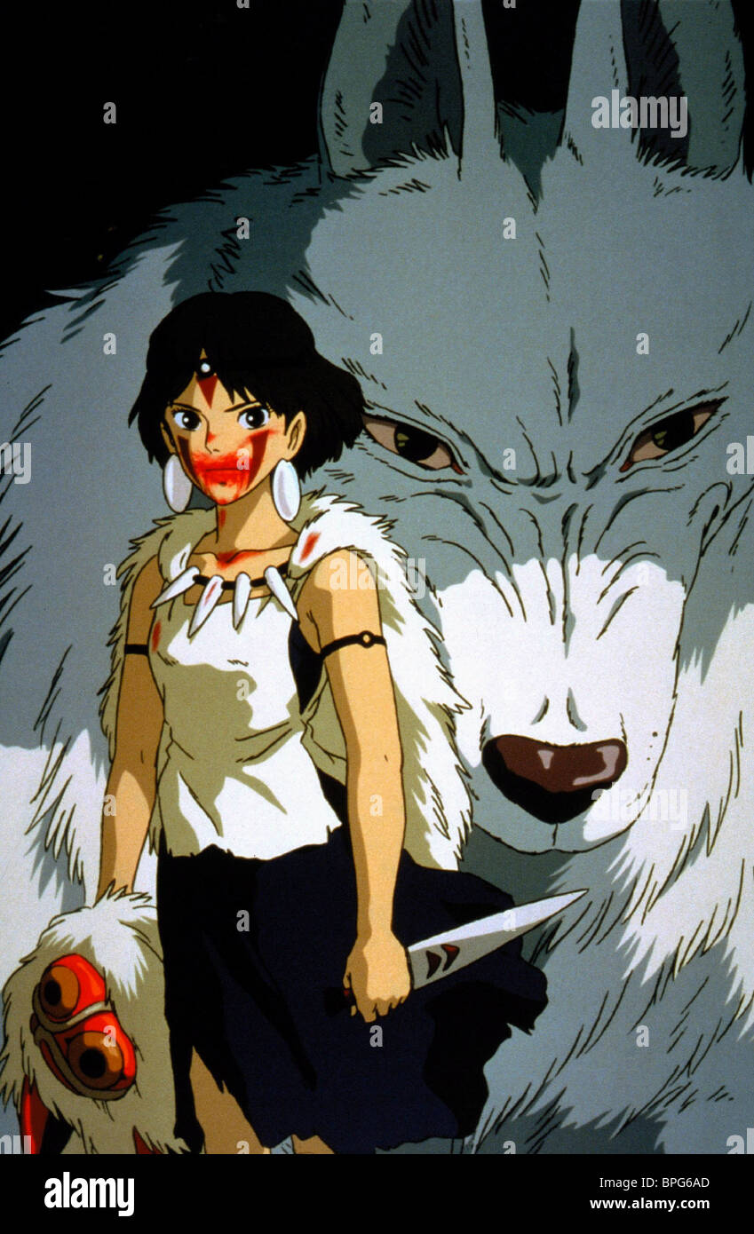 princess mononoke san and moro
