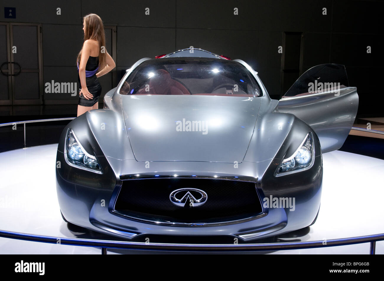 MOSCOW, RUSSIA - August 26: Moscow International Automobile Salon 2010. Infiniti Essence Concept car - Stock Image