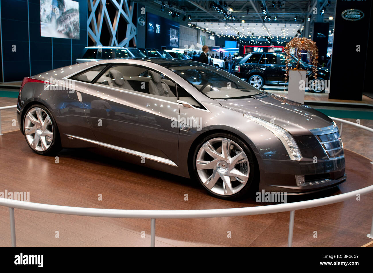 MOSCOW, RUSSIA - August 26: Moscow International Automobile Salon 2010. Cadillac Converj Concept car - Stock Image