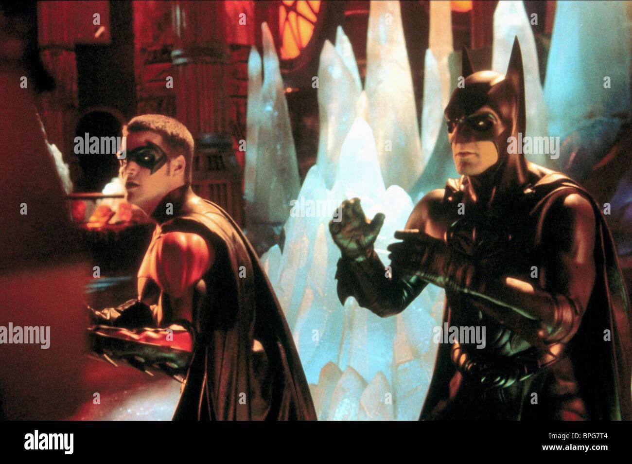 Chris O Donnell George Clooney Batman Robin 1997 Stock Photo Alamy