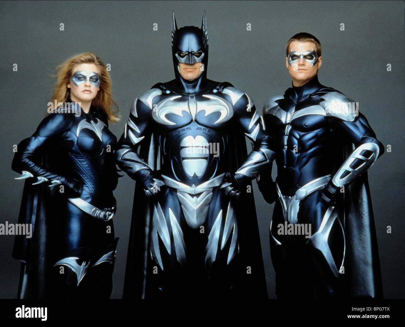 Alicia Silverstone George Clooney Chris O Donnell Batman Robin Stock Photo Alamy