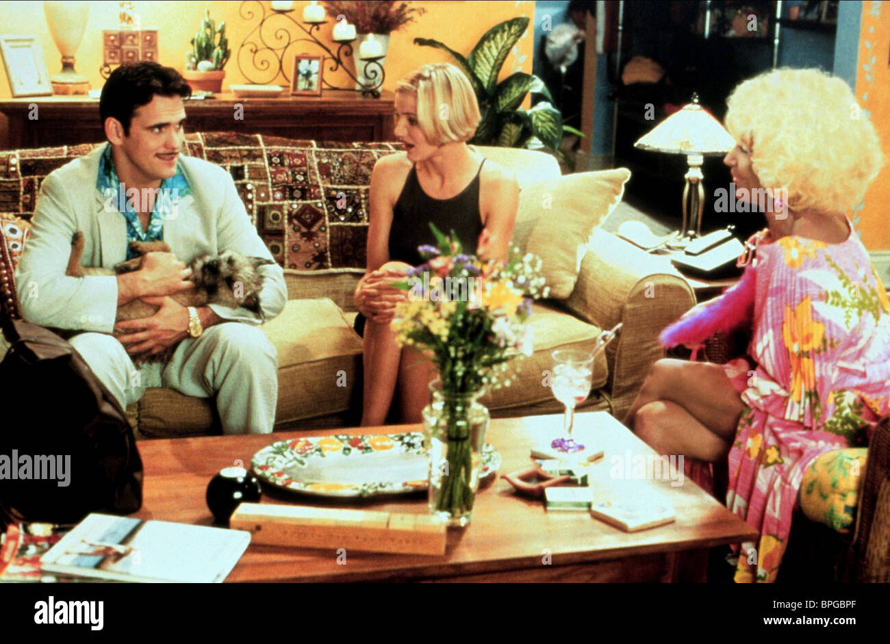 MATT DILLON CAMERON DIAZ LIN SHAYE THERE'S SOMETHING ABOUT MARY (1998) - Stock Image