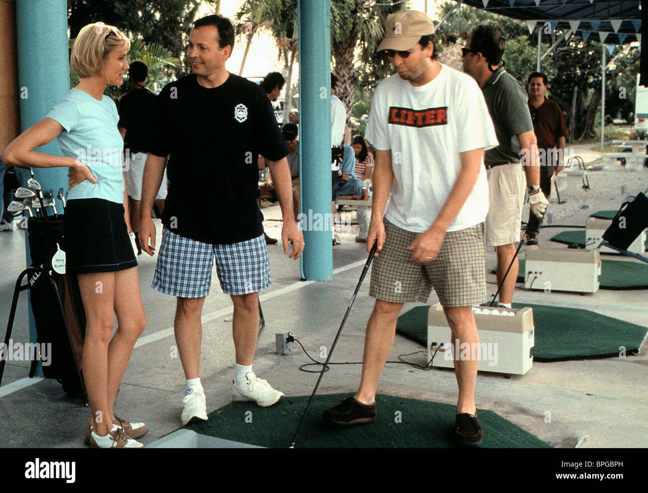 CAMERON DIAZ BOBBY FARRELLY PETER FARRELLY THERE'S SOMETHING ABOUT MARY (1998) - Stock Image