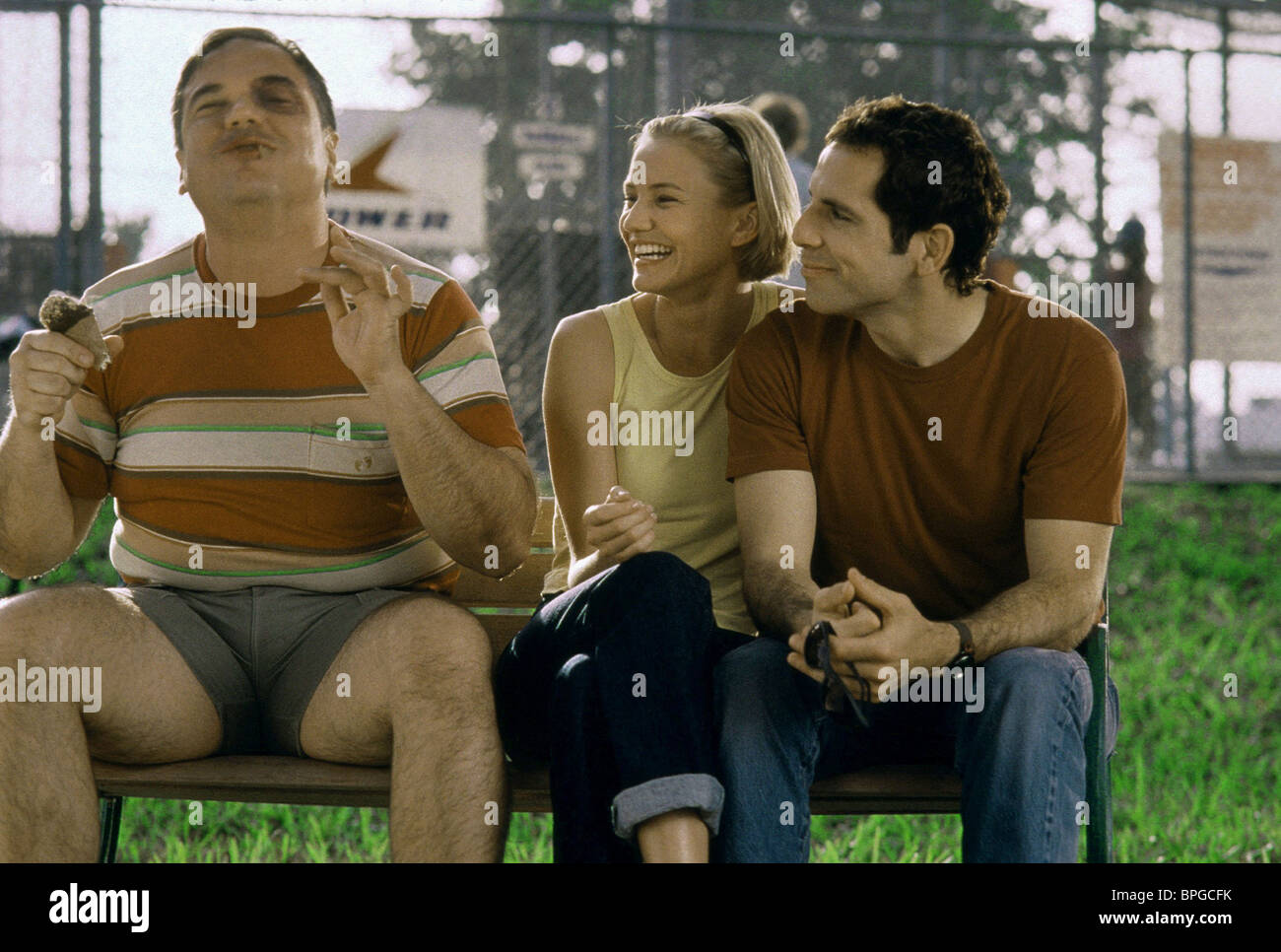W. EARL BROWN, CAMERON DIAZ, BEN STILLER, THERE'S SOMETHING ABOUT MARY, 1998 - Stock Image