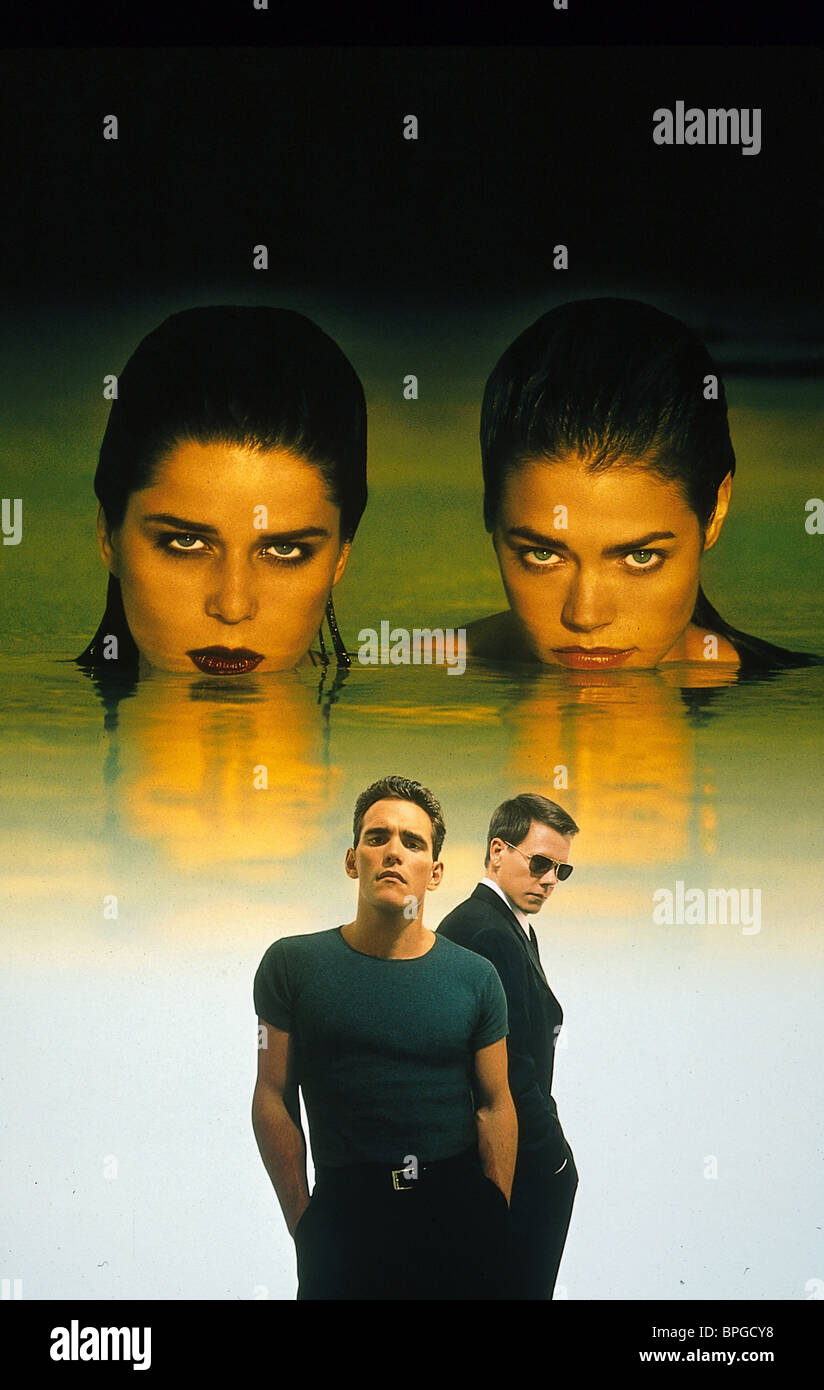 DENISE RICHARDS NEVE CAMPBELL MATT DILLON & KEVIN BACON FILM ARTWORK WILD THINGS (1998) - Stock Image