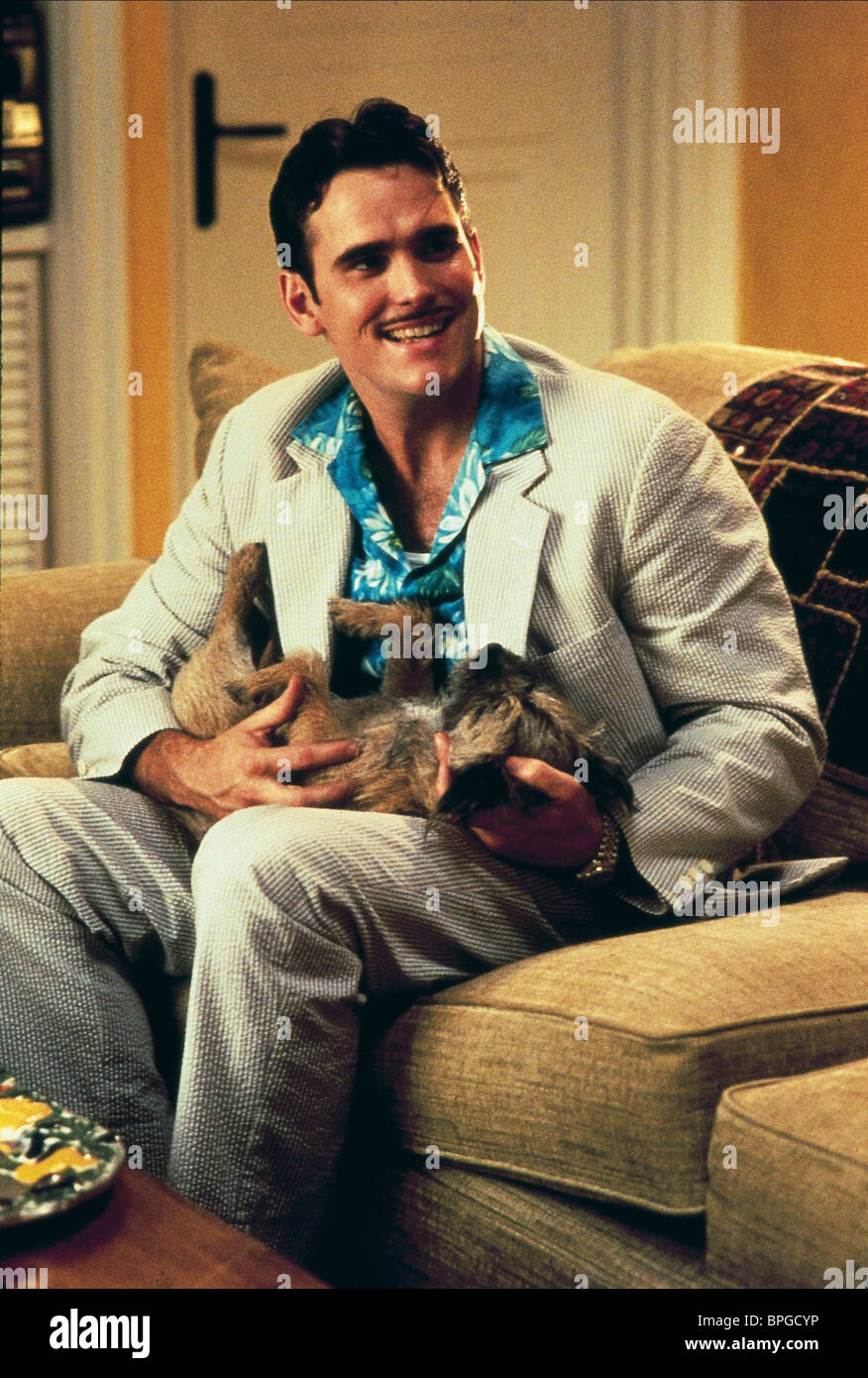 MATT DILLON WITH DOG THERE'S SOMETHING ABOUT MARY (1998) - Stock Image