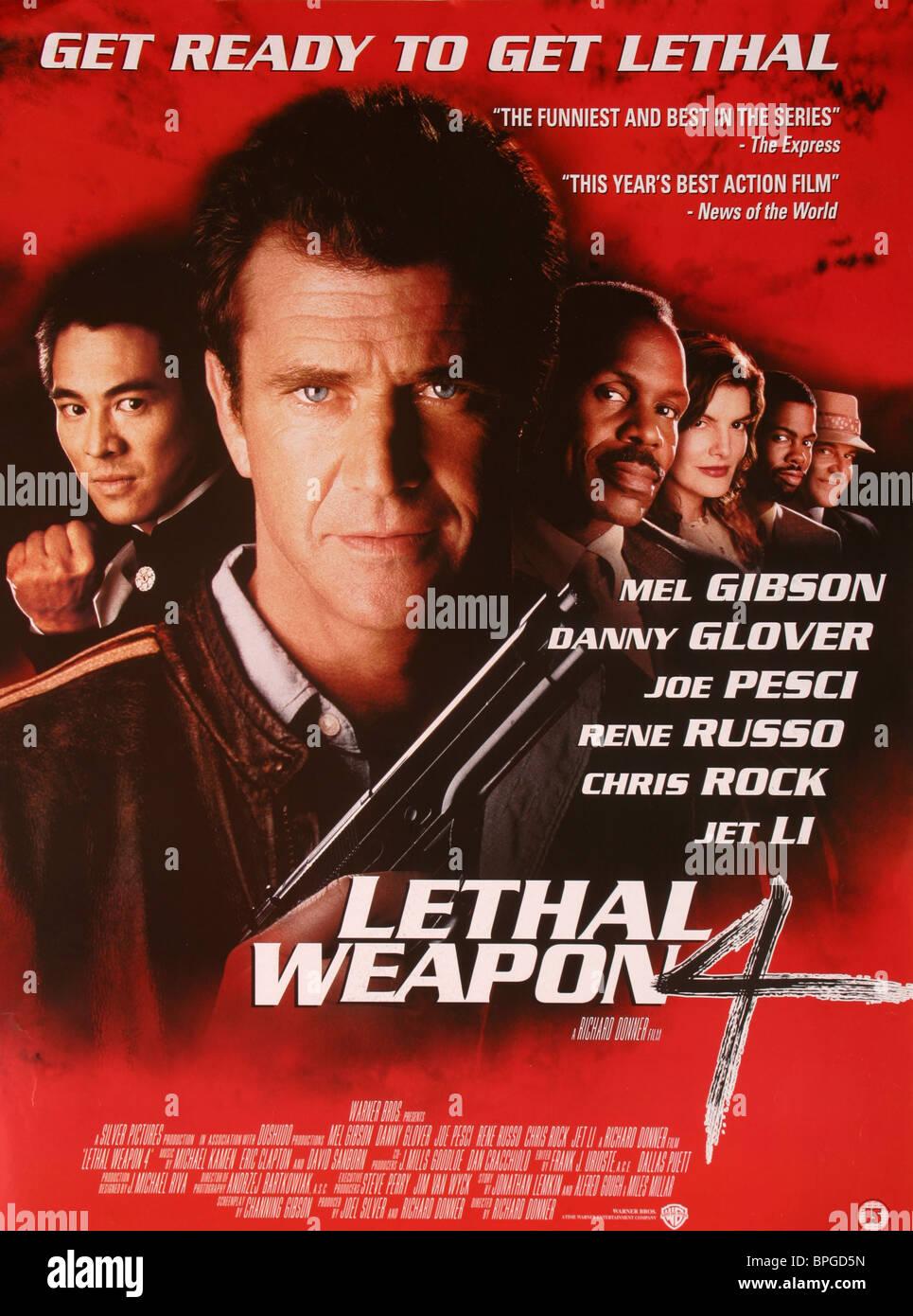 Jet Li Mel Gibson Danny Glover Rene Russo Chris Rock Joe Pesci Stock Photo Alamy