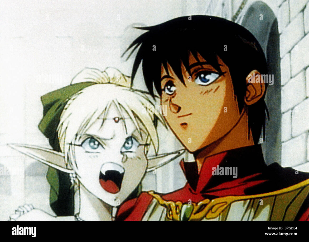DEEDLIT & PARN RECORD OF LODOSS WARS: CHRONICLES OF THE HERIOC KNIGHT (1998) Stock Photo